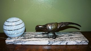 French Art Deco Large Spelter Lamp C1930 photo