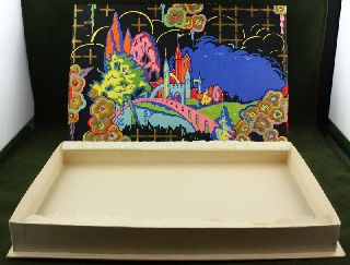 Antique Art Deco Machine Age Colorful Candy Chocolate Box Fantasy - Scape Fabulous photo