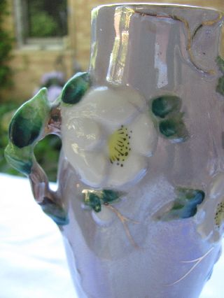 Art Deco Japanese Vase - Free Form Handles And Embossed Flowers photo