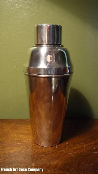 French Art Deco Silver Cocktails Shaker C1930 ' S photo