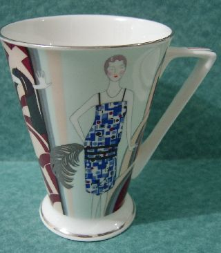 Lovely Art Deco Bone China Mug By Past Times - New photo