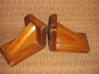 A Set Of 2 Wooden Art Deco Style Bookends photo