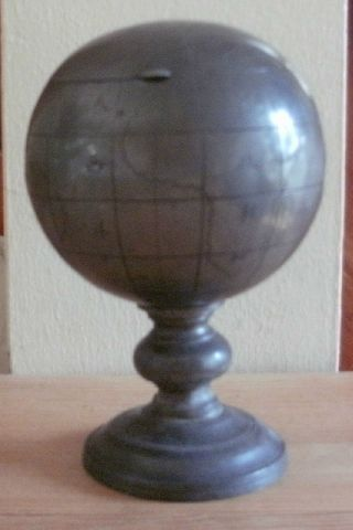 Vintage Japanese Pewter ' Globe ' Table - Top Cigarette Holder Circa 1930 ' S/40 ' S photo
