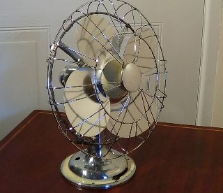 Antique Electric Desk Fan,  Limit Engineering Co.  Ltd.  London.  Circa1940. photo