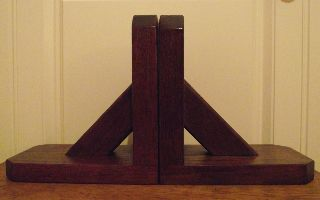 Art Deco Mahogany Bookends photo
