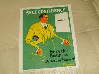 A Antique Art Deco Print Of A Man - Self Confidence - All - C1928. photo