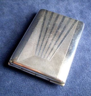 ~ Art Deco ~ Silver Plated ~ Card Case ~ C1935 photo