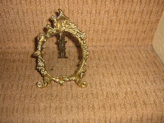A Art Deco Style Brass Vintage Photo Frame In Good Condition photo