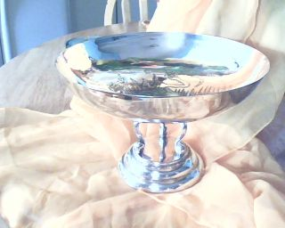 Vintage;1930s Ornate Silver,  P,  Bowl On;figural Stand;;;;;; photo