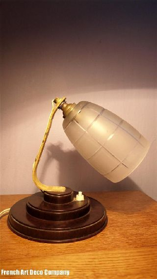 Bakelite French Art Deco Table Lamp C1930 photo