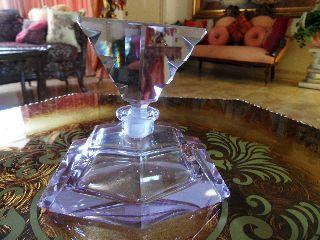 Rare Art Deco Perfume Bottle Lavendar Color A Must See photo