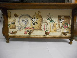 Pfaltzgraff Village Yorktowne & Folk Art Wood Wall Shelf W/ Pegs photo