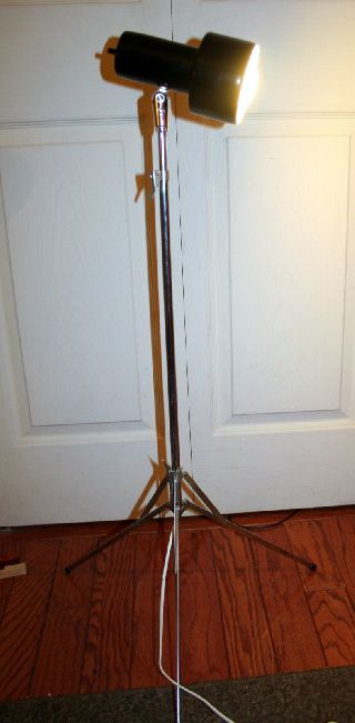 Art Deco Machine Age Tripod Floor Lamp Reading Lamp Spot Light photo