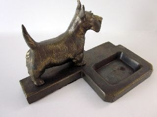Vintage Metal Art Deco Frankart Scotty (scottie) Valet Tray photo