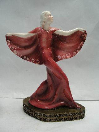 Antique Art Deco German Porcelain Dancing Figurine - Hertwig,  Katzhutte photo