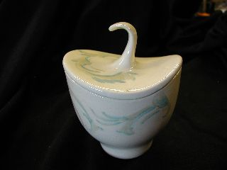 Vintage Stylized Ceramic Art Deco Sugar Bowl Rare No Chips Or Cracks photo