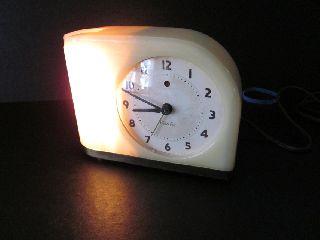 Art Deco Vintage Moonbeam Alarm Clock By Westclox Circa 1930 ' S photo