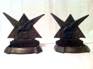 Rare Art - Deco Cast Iron Bookends