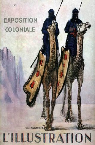 1931 French Africa Camel Warriors Expo Art Deco Poster New Printing photo