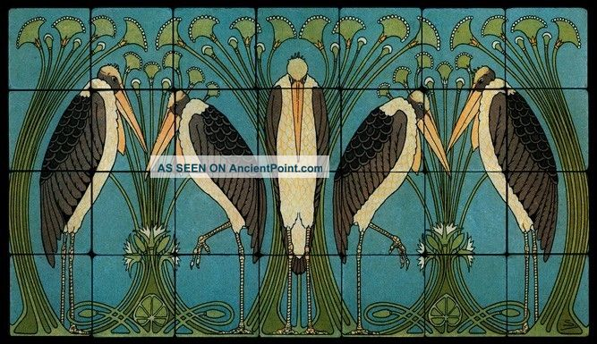 William morris arts and crafts tile mural for Arts and crafts mural