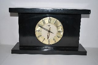 1940s Vintage Sunbeam Mantle Clock Electric Art Deco Style photo