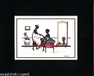 M Grosze~art Deco~silhouette~manicure~ New Matted Print photo