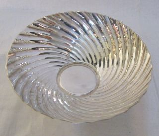 Lovely Swirls French Art Deco Silver Bowl By Ercuis See Photos And Mark photo