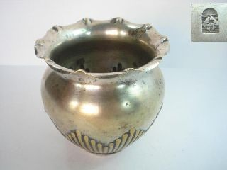 1920s Antique Art Deco Wmf Silvered Bronze Vase photo