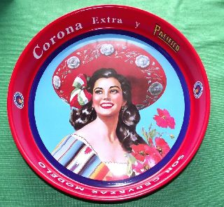 New 1950 ' S Retro Deco Image Corona Beer Tray photo