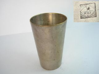 1920s Antique Art Deco Wmf Silvered Bronze Cup photo