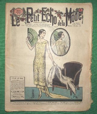C1924 Art Deco Jazz Era French Fashion Newspaper N2 photo