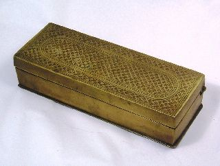 Wonderful Art Deco Vintage Bronze Box Q12 photo