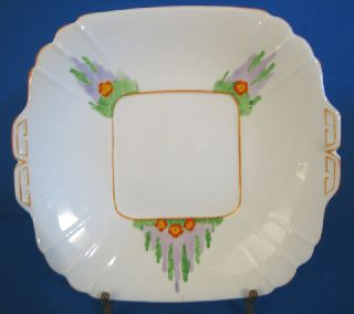 Art Deco Handled Cake Plate Victoria China England photo