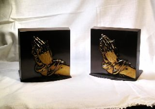 Vintage Art Deco Silver Crest Bookends B19 photo