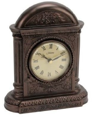 Art Deco Vintage Dark Bronze Arch Mantle Table Clock photo