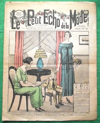 C1924 Art Deco Jazz Era French Fashion Newspaper N13 photo