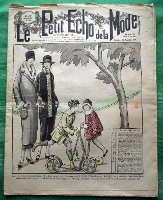 C1924 Art Deco Jazz Era French Fashion Newspaper N18 photo