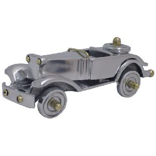 Art Deco Vintage Chrome & Brass Old Fashioned Car Figurine Statue Nostalgic photo