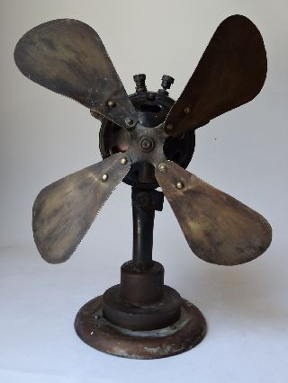 Axis Oil - Ancient Fan Ventilator - Prototype? - Connect By Screwing - Early 20 Th Cent photo