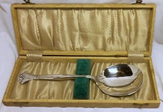 Pretty Boxed 1930s Rhodium Plated Serving Spoon~cws~pretty Box~rd 777500 photo