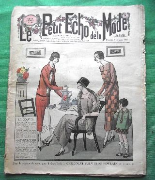 C1924 Art Deco Jazz Era French Fashion Newspaper N10 photo