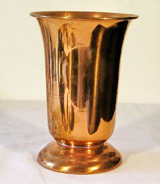 Vintage Deco Copper Vase J2 photo