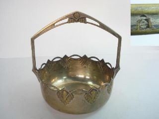 1920s Antique Art Deco Wmf Silvered Bronze Sugar Bowl photo