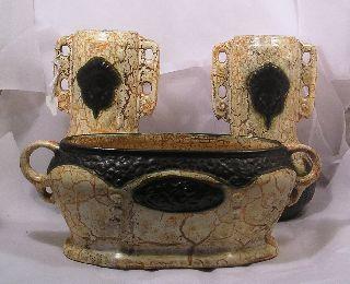 Vintage Set Czech Alienware Art Pottery Vases C35 photo