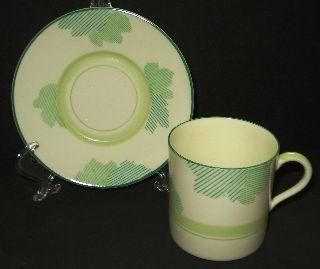 Vtg Art Deco Royal Doulton Porcelain Demitasse Tea Cup Saucer England 1930 Sale photo