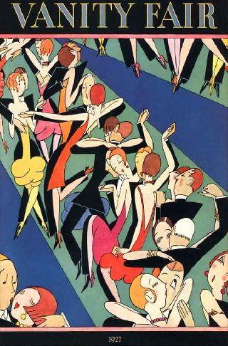 1927 Jazz Dance Congo Line Flappers Rum Club Prohibition Art Deco Poster photo