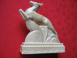 Poole Pottery Art Deco Leaping Deer photo