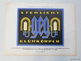 1927 Lucian Bernhard Fritz Rosen Litho Mini Poster Print Art Deco photo