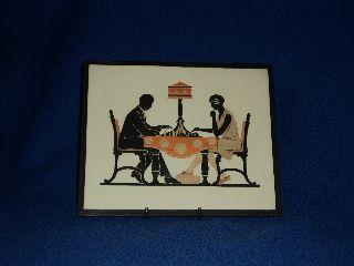 Bobella Silhouette - Art Deco Chess Board - Unusual Bobella Silhouette photo
