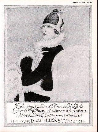 1925 Altman Woman Portrait Fashion Flapper Import Style photo